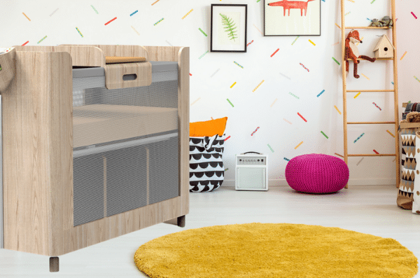 High Rize Baby Cot/Crib in Nursery